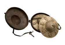 CYMBALES TIBETAINES AVEC ETUI CUIVRE SYMBOLES AUSPICIEUX MODELE ANCIEN 8844 X5B