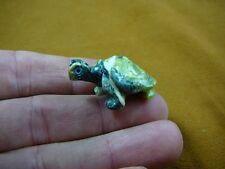 (Y-TUR-LA-63) baby Turtle tortoise green FIGURINE carving gemstone love turtles