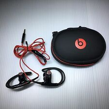 Original Beats by dr.Dre Powerbeats 2 wired in-ear Mic/headphones Black/Red-MINT