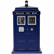 DR WHO FIGURE TARDIS PROJECTION  ALARM CLOCK LIGHT AND SOUND 3 DAYS ONLY