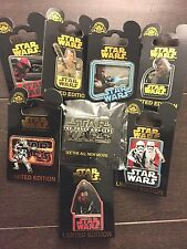 Lot of 8 NEW Star Wars The Force Awakens Disney Parks + DMR LIMITED EDITION Pins