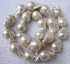 18-25mm Natural Baroque White FreshWater Pearl Loose Beads 16""