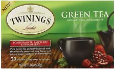 3 x Twinings Green Tea, Pomegranate/Raspberry and Strawberry, 20 Count