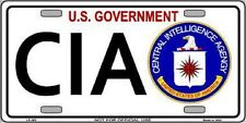 CIA Metal Novelty License Plate Car Front Tag