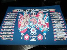 THE COLDSTREAM GUARDS BATTLE HONOURS A4 PRINT ON CANVAS EFFECT CARD