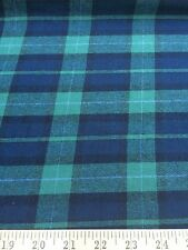 "Blackwatch Plaid 100% Cotton Flannel Fabric 58"" Wide Sold By The Yard"