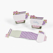 12 Tea Cups SHAPED PLACE SETTING PLACE CARDS TEA PARTY Fun Hard to find Lot NICE