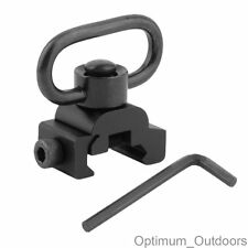 Quick Detach Sling Mount Swivel QD Adapter for 20mm Weaver Rails Rifle Gun Rail