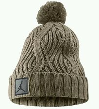 Nike Air Jordan Jumpman Cable Pom Beanie Hat 801768-235 Beige Retro