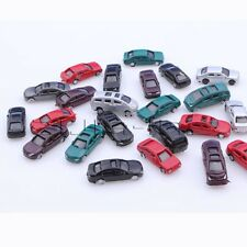 50pcs 1:100 Scale Painted Model Cars for Parking Scenery Train Layout