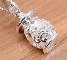 New Arrival Silver Hollow Box Chain Necklace Pendant Fashion Gift