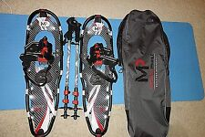 Yukon Charlie's 9 X 30 Snowshoes w/Poles and carry bag