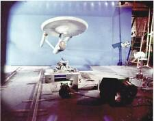 1966 STAR TREK Enterprise behind-the-scenes special effects 8x10 color photo