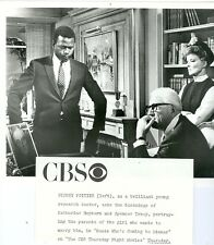 SIDNEY POITIER KATHERINE HEPBURN GUESS WHO'S COMING TO DINNER 1972 CBS TV PHOTO