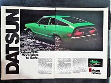 Vintage 1974 Datsun B-210 - 2 Page Full Color Ad