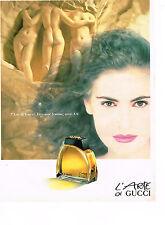 PUBLICITE ADVERTISING 034   1992   GUCCI  parfum  l'ARTE