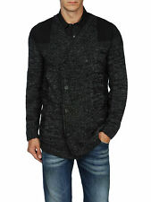 DIESEL K-BULINO BLACK CARDIGAN SIZE L 100% AUTHENTIC