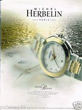 Publicité advertising 2001 La Montre Michel Herbelin Newport Royale