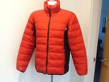 mens wedze ski/winter quilted bubble jacket eur large bright red unmarked vgc