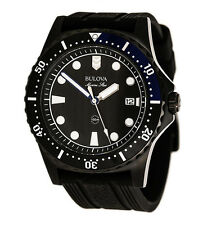 Bulova Men's 98B159 Marine Star Black Silicone Strap Watch