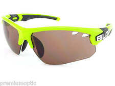 BLOC mens TITAN sports Sunglasses Neon Green/ Vermillion CAT.3 Lens X633S