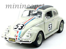 HOT WHEELS BLY59 HERBIE THE LOVE BUG 1962 VW VOLKSWAGEN BEETLE #53 1/18 CREAM