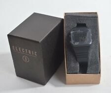 NIB MENS ELECTRIC EDO1 PU DIGITAL MODULE WATCH $100 black water resistant