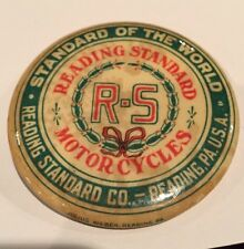 Reading Standard Pocket Mirror Antique Motorcycle Early 1900s Indian Harley Thor