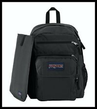 JANSPORT: Digital Big Student School Bag Backpack w/ Sleeve in Black (NWT) $70