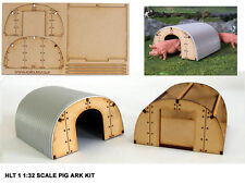 1:32 SCALE MODEL PIG ARK KIT X 2 FARM BUILDING FOR BRITAINS SIKU BRUSHWOOD FB055