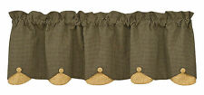WINDOW CURTAIN - LINED SCALLOPED VALANCE - COUNTRY STAR BY PARK DESIGNS