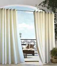 """*Outdoor Decor Grommet Panel for Outdoor living 50""""W84""""L Natural NEW"""
