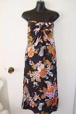 ZIMMERMANN Floral Fruit Birds Silk Strapless Long Dress sz 1 fits 8 10