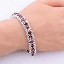 Amethyst gold filled tennis bracelet band crystal chain bangle bracelet