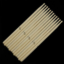 Pack of 6 Pairs Maple 5A Wood Drum Sticks Maple Sticks Musical Band Instrument