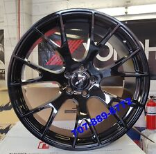 """22"""" Staggered OE Style Hellcat SRT Wheels Fit Dodge Charger Challenger Black Rim"""