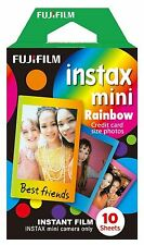Genuine Fujifilm 10 Pack Sheets Rainbow Film for Fuji Instax Mini - Multi Colour