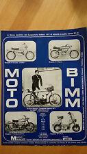 Pubblicità Advertising MOTO BIMM - Motori Minarelli anno 1972
