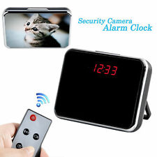 Remote 720P Mini HD Cam Alarm Clock Video Motion Camera DVR Digital Video Record