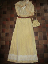 VICTORIAN EDWARDIAN Dickens Titanic golden SKIRT/cape costume 8 stage theater