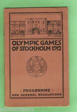 #D88. 1912  STOCKHOLM OLYMPIC GAMES PROGRAM & REGULATIONS