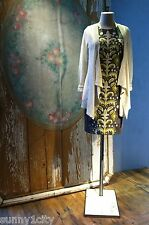 New ANTHROPOLOGIE Embroidered Fountain Shift dress by Tabitha Sz 2P $178 RARE