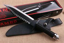 """RAMBO II FIRST BLOOD Signature 16"""" 6mm multi-function Survival hunting knife"""