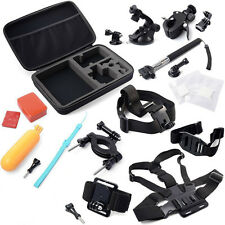GoPro Combo 13in1 Accessories Kit Hero 2,3,3+,4 Shockproof Travel Case Large