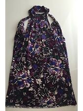 United colors of benetton women top floral purple cotton XS