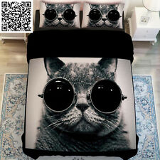 Cool Cat King Single Size Quilt Covers Doona/Duvet Cover Set Pillow Case Bed New