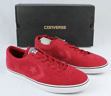 New CONVERSE ELM OX Varsity Red Leather Stake Shoes Sneakers Men's 11.5 W 13 NIB