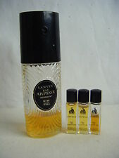 LANVIN ARPEGE Perfume Spray Bottle & 3 Small Sample Bottles-4 pcs lot