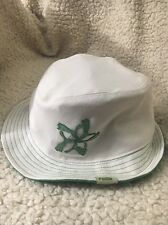 Puma fedora hat mens S/M White With Green Pumas Creating A Star