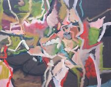 Ronald Meaux 1973 Abstract Expressionist oil painting Gay Black Ohio artist